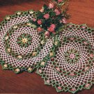 Crochet Blossom Doily Vintage Thread Pattern Florals