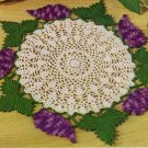 Grape Doily, Crochet Grapes Doily Pattern