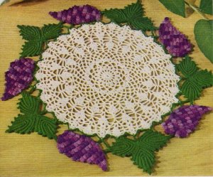 Crochet Doily Pattern, Crochet Grape Doily Pattern Pdf Crochet