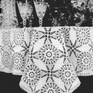 Cathedral Window  Vintage Crochet Tablecloth Pattern, Table Crochet