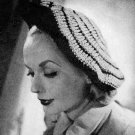 Womens Beret Crochet 40s Tam Hat Pattern