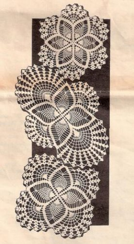 Doily Patterns, Vintage Pineapple, Crochet Doily Patterns, Lace DoilyPattern Set Pdf 7019