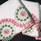 Pillowcase Edging Appliques Rose Crochet Pattern Trim