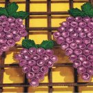 Bottle Cap Trivets Crochet Cap  Grape Patterns, Vintage Grape Potholders