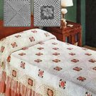 Irish Motif Bedspread Pattern Rose Crochet Square