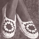 Crochet Ladies Moccasin Slippers, Yarn Vintage Patterns Projects