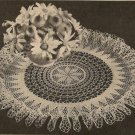 Ruffle Doily Table Crochet Pattern, Sunburst Doily