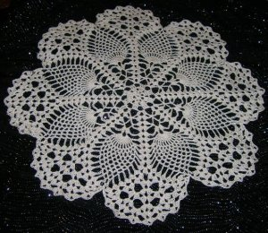 Crochet Pineapple Lace Pattern Round Set Crochet Pdf Doily