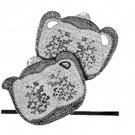 Teapot Crochet Pattern Sugar-Bowl with Cross Stitch Potholders