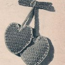 Lapel Crochet Pattern Vintage Heart Collar Valentine Pin,