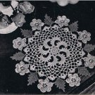 Vintage Crochet Pattern Scroll Motif Doily, Irish Rose  Doily,