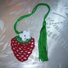 Crochet Thread Strawberry Pattern, Cotton Thread Bookmark