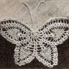 Hankerchief Edging Pattern, Vintage Butterfly Edging Crochet Thread Lace Crochet