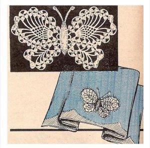 Crochet Butterfly Pattern, Crochet Motif Applique Pdf