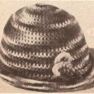 Cloche Hat, Crochet Beanie One Skein Cap