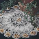 Ivy Rose, Vintage Crochet Pattern Doilies, Flower Doily