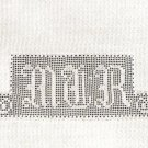 Linens Initials Filet Crochet Sheet  Monograms
