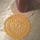 Coaster Crochet Round Patterns, Thread Doily, Small Coaster