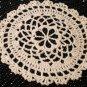 Small Crochet Doily Coaster Pattern, Round, Lacy