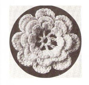 Applique Flower Rose Pattern Irish Motif Crochet