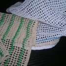 Kitchen Filet Dishcloth Crochet Pattern Thread Towels