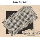 Vintage Workbasket,  Pattern Small Bread Tray Doily Pattern,or Crochet Sets for Vanity or Chair