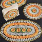 Set Rose Hot Mats Vintage Kitchen Crochet Potholders