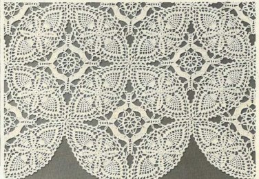 Crochet Pattern Pineapple Vintage  Double Wedding Ring Tablecloth Motif,
