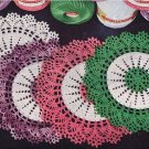 Crochet Doily Gift Pattern, Vintage Two Tone Doily Thread Mats