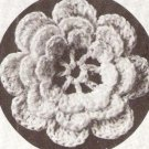 Thread Crochet Rose Irish Applique Flower, Rose Crochet Pattern