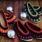 Vintage Crocheted Slippers Patterns Ballet Style House Shoes,Patterns Shoes, Houseshoes