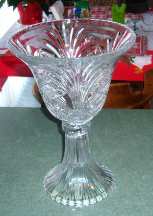 Crystal towle Large 14 inch fine Crystal vase !wow! $ 55.00