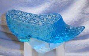 Fenton Glass slipper-Blue dots-$13.95