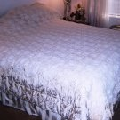 Antique bedspread popcorn pattern white handmade