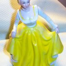Porcelain Victorian Lady figurine  in Yellow