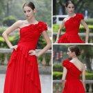 ELYSEMOD A-line One Shoulder  Floor-length multiplex yarn Quick Delivery/ Evening/ Prom Dress