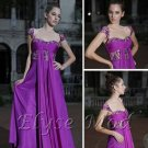 ELYSEMOD A-line Off-the-shoulder  Floor-length Tencel Chiffon Quick Delivery/ Evening/ Fromal Dress
