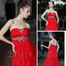 ELYSEMOD A-line Starpless Floor-length Beads Elastic Silk-like Satin Quick Delivery/ Evening Dress