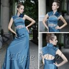 ELYSEMOD A-line Halter Floor-length Beads Lace Twill Quick Delivery/ Ladies' Evening Dresses