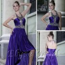 ELYSEMOD Sheath/Column Halter Asymetrical Lace Quick Delivery/ Evening/ Prom Dresses