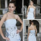 ELYSEMOD A-line Strapless Brush Train Chiffon Quick Delivery/Wedding Party/ Evening Dress