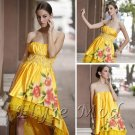 ELYSEMOD Trumpet/Mermaid Strapless Asymetrical Print Flower Quick Delivery Evening/ Prom Dresses