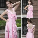 ELYSEMOD Empire Spaghetti Straps Floor Length Ruffles Quick Delivery/ Long Formal Dresses