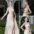 ELYSEMOD A-line Strapless Sweep Train Matter Satin Quick Delivery/ Beauty Formal Dresses