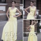 ELYSEMOD A-line V-necl Floor Length Silk Lace Quick Delivery Cocktail Dress/Party Dress