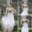 ELYSEMOD Empire Halter Floor Length Tencel Beads Quick Delivery Evening Dress/Party Dress
