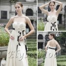 ELYSEMOD A-line StraplessBrush Train Applique Quick Delivery Prom Wedding Party Dress