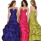 Ball Gown Sweetheart Sweetheart Floor Length Taffeta Beaded Quick Delivery Fromal Gown