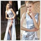 Trumpet / Mermaid V-neck Ankle-length Sleeveless Elastic satin Evening Dress by Elysemod 80152