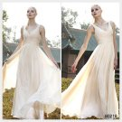 Elysemod A-line V-neck Floor-length Sleeveless Tencel ChiffonEvening Dress 80218